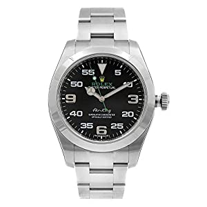 Fashion Shopping Rolex Air King Black Dial Stainless Steel Mens Watch 116900BKAO