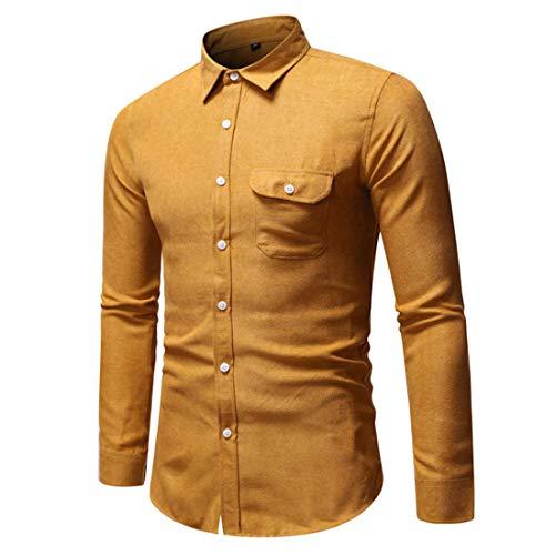 ZGRNPA Jeanshemd Herren Denim Shirt Langarmhemd Cowboy-Style Freizeit Hemd männer...