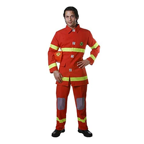 Dress up America Disfraz de Caza de Bomberos Rojo Adulto