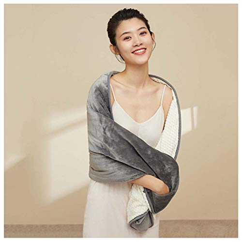 TRFBC Electric Blanket Luxurious Electric Heated Shawl, Washable, with 3 Heat Settings and 3 Hours Auto Off, for winter Traveling Camping Hiking and Outdoor Activities Shawl Blanket(Gray)