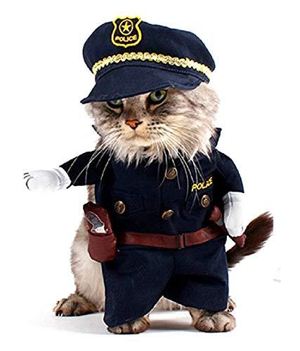 LEGISDREAM Vestititino per Cani Uniforme da Poliziotto Taglia L Divertente Idea Travestimento per Amici Animali Regalo Perfetto per Pet Friendly
