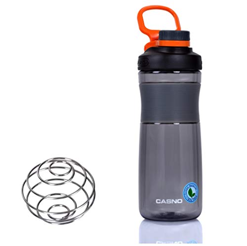 CASNO KXN-1196R - Botella portátil reutilizable con filtro o tubo fuerte, pequeña, para bebidas o agua, multicolor, 600 ml, color rojo
