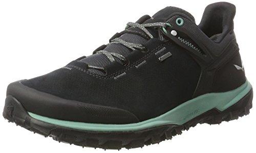 Salewa Herren Wander Hiker Gtx Halbschuh, Zapatillas de Senderismo Hombre, Negro (Black Out/Berly Green 0499), 42.5