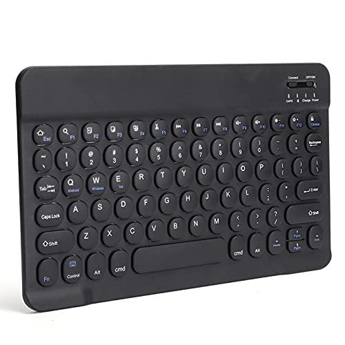 Tastiera wireless, 3.0 senza cavi Tastiera dall'aspetto ultrasottile con pulsante rotondo per per IOS per(Nero)