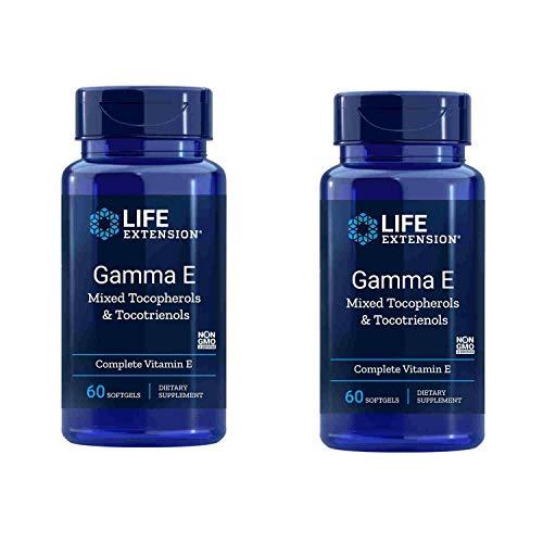 Life Extension Gamma E Mixed Tocopherols & Tocotrienols 60 Softgels (Pack of 2)