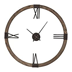 Uttermost 06454 Marcelo - 39.5 Modern Wall Clock, Aged Iron Finish