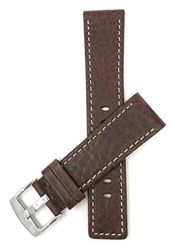 Leder Uhrenarmband 30mm, Braun, auch verfügbar in schwarz und hellbraun