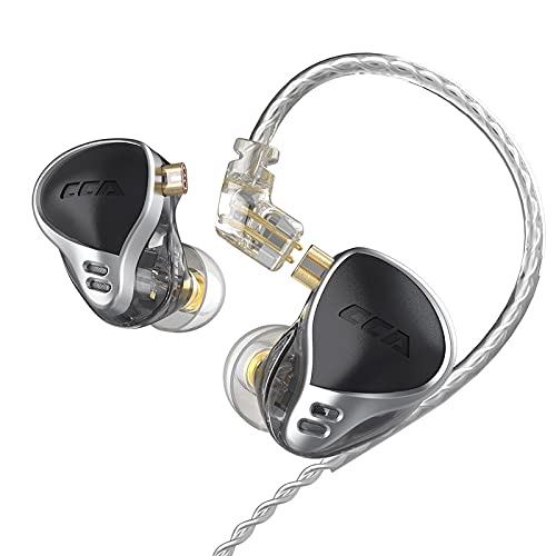 CCA CA24 Headphone 24BA Exclusive Upgrade Armature New Sports Noise Reduction Monitor in-Ear Headphones (Black,no mic)