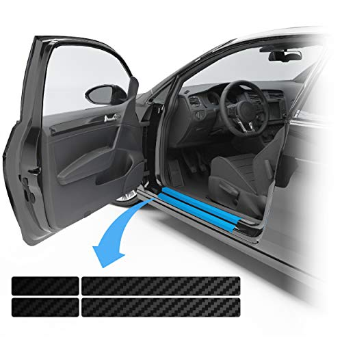 Blackshell® Lackschutzfolie passend für VW Golf Variant & Limousine | Typ AU | Bj. 2012-2019 (5-türer) Carbon Matt - passgenaue Einstiegsleistenschutz Folie inkl. Set für Folierung