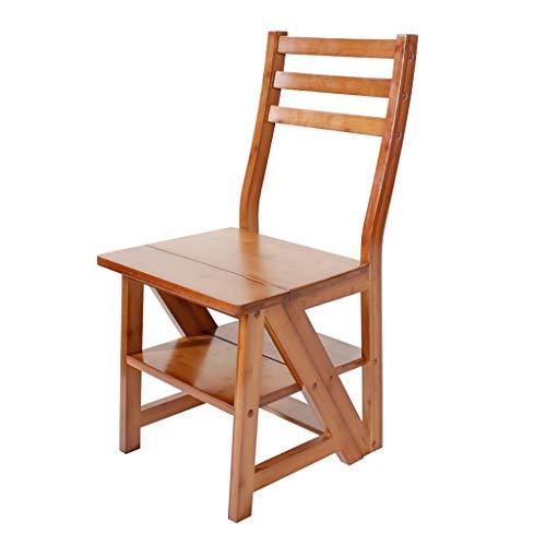 Lw yychair Schaukelstuhl Amerikanischen Multifunktionsstuhl Treppenhaus Stuhl Bambus Klappleiter Stuhl, der Treppen Klapp Blume Stand Machen kann (Color : B)