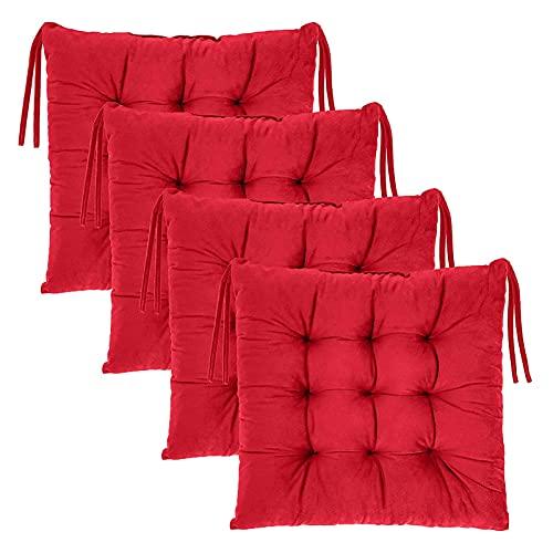 LCYZ Kissen für Küchenstühle,Sitzkissen 40cm mit Bändern für Indoor und Outdoor,Sitzkissen gefüllt für Haus und Garten,bequemes Sitzpolster für Klappstühle Sitzkissen Auflage