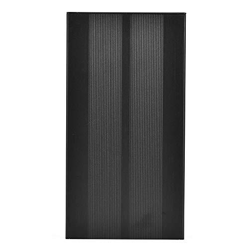 Caja de Caja de aleación de Aluminio de 55x106x200mm Caja de Proyecto de aleación de Aluminio Negra Arena confiable DIY para Protector