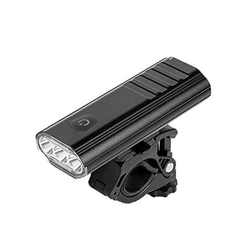 MaQyq Faros De La Luz De La Bicicleta, La Carga USB Power Power Bike Lights Four Speed Ajustable Light Impermeable, Adecuado para Carreteras Montañas Ciclismo