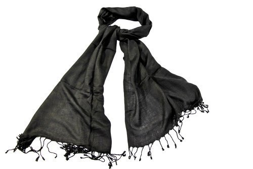 Bewitched Accessories Pashmina Style Scarf In Black by Bewitched Accessories