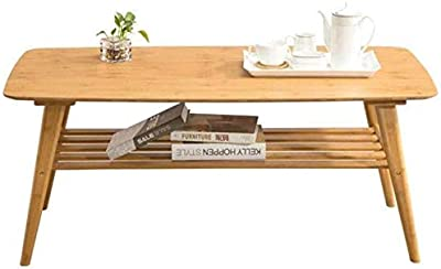 HXH Furniture/Coffee Furniture Natural Bamboo Living Room Storage Home Multiple Sizes (Color : 80x60x50cm) (Color : Wood Color 120x60x50.5cm)