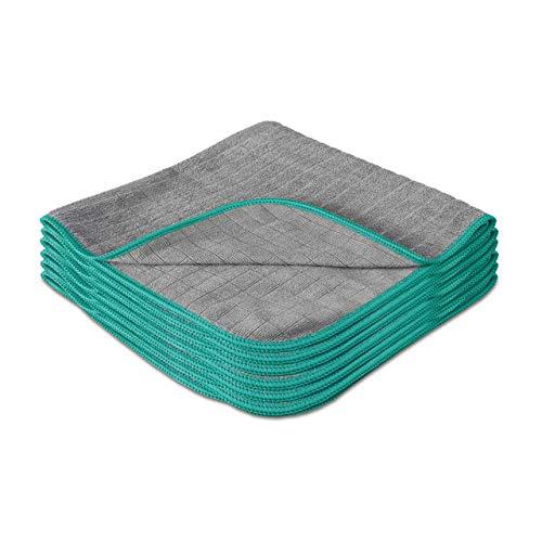 Lavandola® Mikrofasertücher für Ihren Haushalt 6 Stück 40x40cm – extrem saugstark und schonend weich dank 380 GSM– fusselfreie Reinigungstücher für Haushalt, Küche und Bad – Microfasertuch