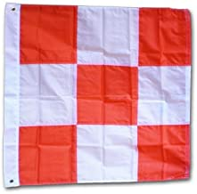 Airfield Vehicle Safety Flag (w/Grommets) - 3' x 3' Nylon Flag