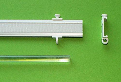 myraumdesign Profi Paneelwagen Aluminium - in verschiedenen Längen - Silber oder weiß für Schiebegardine - Fast überall passend (60 cm, Silber)