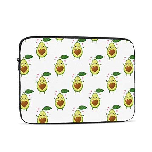 NYIVBE Cartoon Cute Avocado Laptop Sleeve Bag Compatible with 10-17 Inch MacBook Pro,MacBook Air,Notebook Computer,Tablet,Water Resistant Durable Unisex Portable Laptop Case