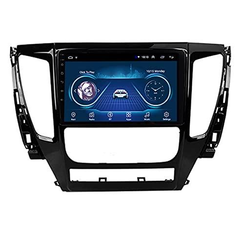 TIANDAO Android 10.0 Radio Satelital para Automóvil Reproductor Multimedia Autoradio Navegador GPS para Mitsubishi Pajero Sport 2016-2018 Soporte WiFi Bluetooth/Control del Volante(Color:WiFi 4G+64G)