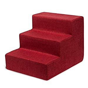 Best Pet Supplies USA Made Pet Steps/Stairs with CertiPUR-US Certified Foam for Dogs & Cats