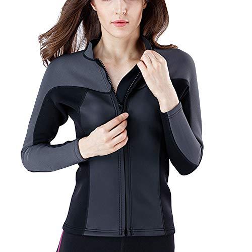 YOUCAI 1.5-3MM Zweiteilige Neoprenanzüge Unisex Tauchanzug Langarm Badeanzug Weisuit UV Schutz Tauchanzug Schwimmanzug Einteiler für Wassersport MY140Top2mm XL
