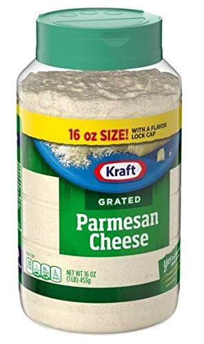 Kraft Grated Cheese, Versatile Italian Parmesan Cheese, 16 oz Jar