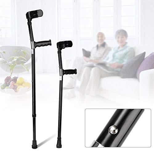 RAXST Muleta para Adulto Regulables ortopédica antebrazo Color Negro en Aluminio anodizado para niños/Hombres/Mujeres/Ancianos