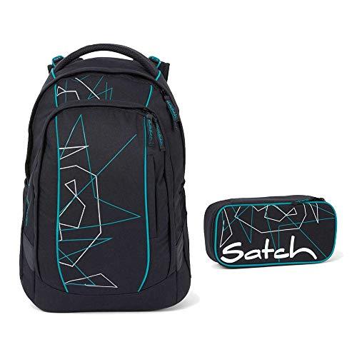 Satch Sleek Schulrucksack-Set 2tlg: Schulrucksack und Schlamperbox (Freeze)