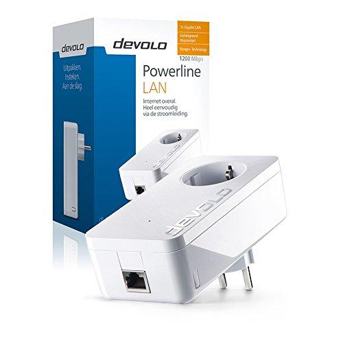 Devolo dLAN 1200+ 1200Mbit/s Ethernet/LAN weiß 1 Netzwerkadapter CPL–Netzwerkadapter CPL (1200Mbit/s, IEEE 802.1p, IEEE 802.3, IEEE 802.3ab, IEEE 802.3AZ, IEEE 802.3u, IEEE 802.3x, Typ F, Gigabit Ethernet, 10,100,1000Mbit/s, 1024-QAM, 256-QAM, 4096-QAM, 64-QAM, BPSK, OFDM, QPSK).