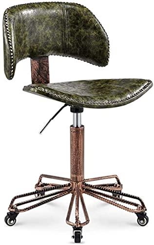 JYHS - Sgabello da bar con schienale, sedia girevole per hotel, stile industriale, stile barbiere, in metallo, per camera da letto, guardaroba, 48 – 62 cm, colore: C) (colore: B) confortevole