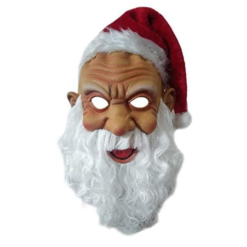 FENGLI Mscara de Santa Claus con barba, cejas, Ao Nuevo, mscaras de fiesta de disfraces y mscaras para disfraz, accesorio de disfraz