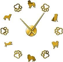 HIDFQY Reloj de Pared Exquisito Perro holandés Raza pequeña Jaula ...