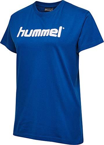 Hummel Damen HMLGO COTTON LOGO T-shirts, True Blau, M