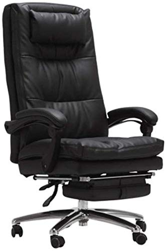Sillas de Oficina Ajustable de Cuero de la Alta Volver Negocio Silla Home Office Silla reclinable Silla giratoria de Ordenador de Escritorio 126x68x68cm Gaming Chair