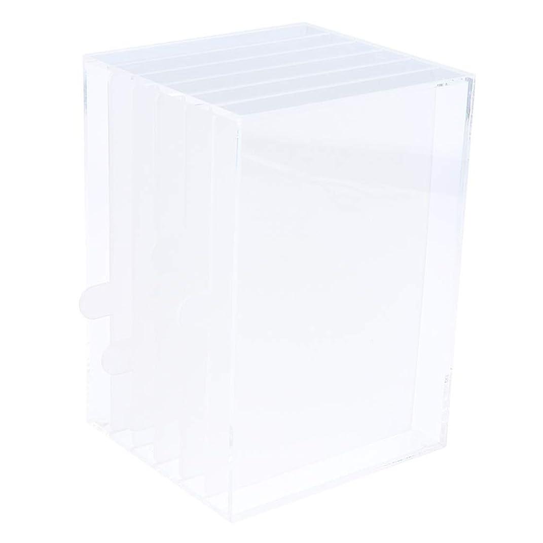 注釈受け入れるビリーヤギPerfeclan メイクボックス 透明なアクリルネイル美容ディスプレイストレージボックスジュエリー防塵ケース