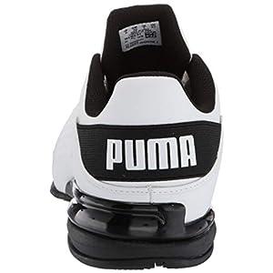 PUMA Men's Viz Runner Wide Cross-Trainer, White/Black, 10