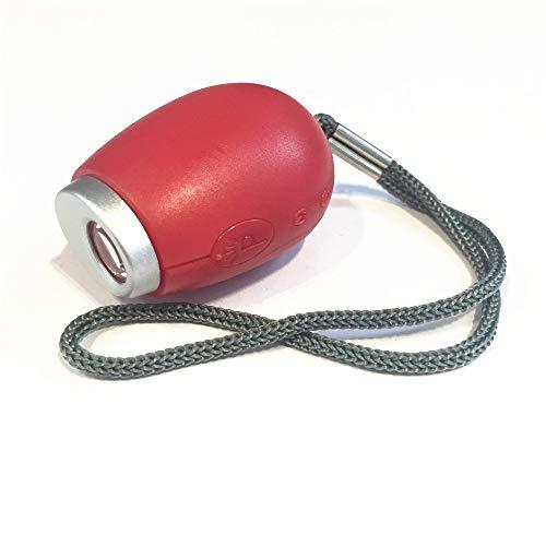 Mini-Digitalprojektionsuhr, Digitaluhr Tragbare Projektionsuhr, LED-Taschenlampe mit Lanyard (2 Stück) (rot)