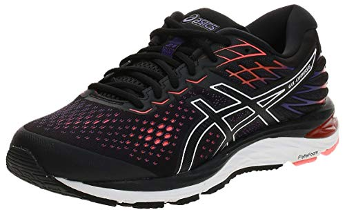 Asics Gel-Cumulus 21, Zapatillas de Running Hombre, Negro (Black/Flash Coral 002), 44.5 EU