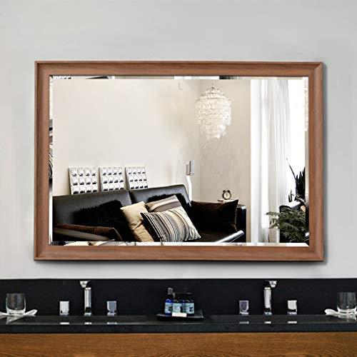 YXB Wall Mirror Framed Horizontal & Vertical Hangs Rectangular Frame Bedroom Or Bathroom Vanity Mirror J1/5