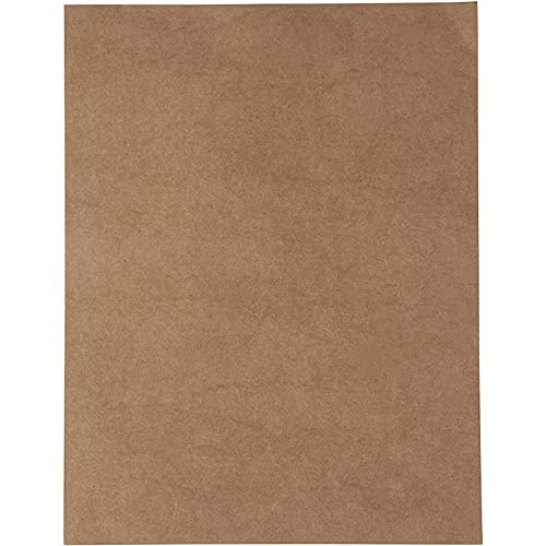 Brown Kraft Paper Cardstock Sheets for Invitations, Menus, Crafts (8.5 x 11 In, 96 Sheets)