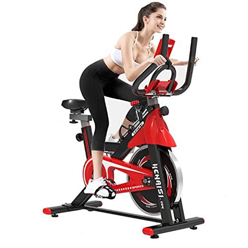 FCFLXJ Bicicleta estática para Ciclismo, Bicicleta para Ejercicio en Interiores, Bicicleta estática Profesional Ajustable, Tiempo, Velocidad, Calorías
