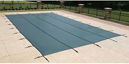 Blue Wave 20-ft x 40-ft Rectangular In Ground Pool Safety Cover - Green