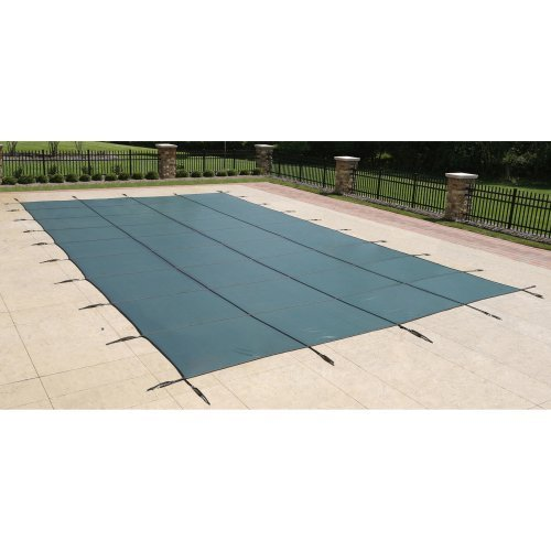 Blue Wave 20-ft x 40-ft Rectangular In Ground Pool Safety Cover - Green -  Blue Wave Products, BWS390G
