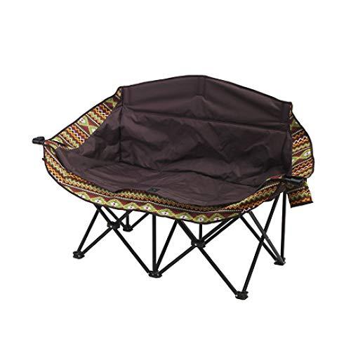 LIUQIAN Camping-Stühle Outdoor Klappstuhl großen Doppel Mond Stuhl Liege faul Stuhl Camping Freizeit Doppel Strand Chai