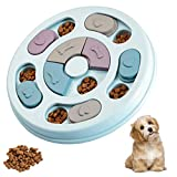 Dog Puzzle Toys Colorful Design Interactive Dog Toys Box Dog Puzzles for IQ Training Dog Enrichment Toys -Blue