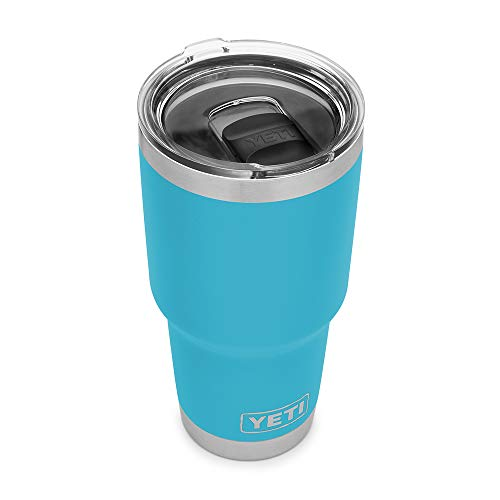 YETI Rambler 30 oz Tumbler, Stainless Steel, Vacuum Insulated with MagSlider Lid, Reef Blue