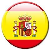 Kühlschrankmagnet Flagge Spanien Magnet Länder Flaggen Reise Souvenir für Kühlschrank stark groß 50 mm