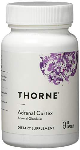 Thorne Research Adrenal Cortex - Adrenale Unterstützung - Premium Qualität - 60 vegetarische Kapseln