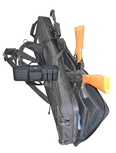 explorer gun cases Explorer Rolling 3-Rifle Case, Black, 46 x 13.5 x 4-Inch